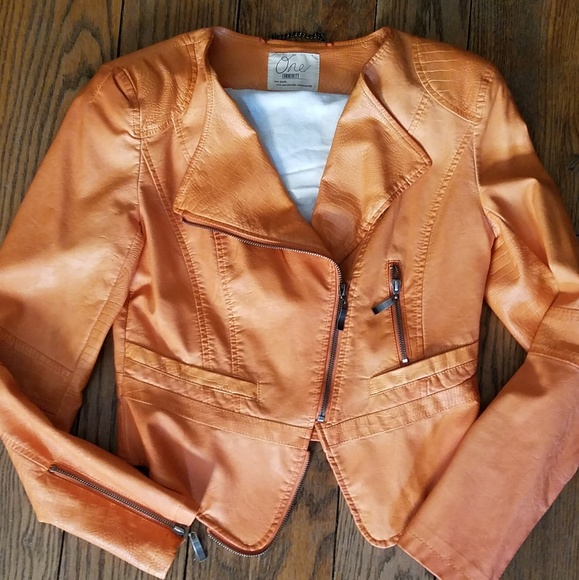 Jackets & Blazers - Vegan leather moto jacket